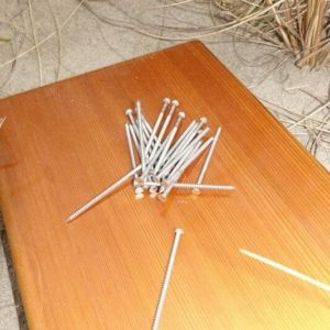 "3"" 10D 316 Stainless Ring Shank Nails"
