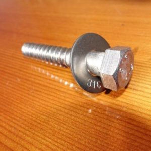 "1/2"" x 3"" Hex Head Lag and Washer"